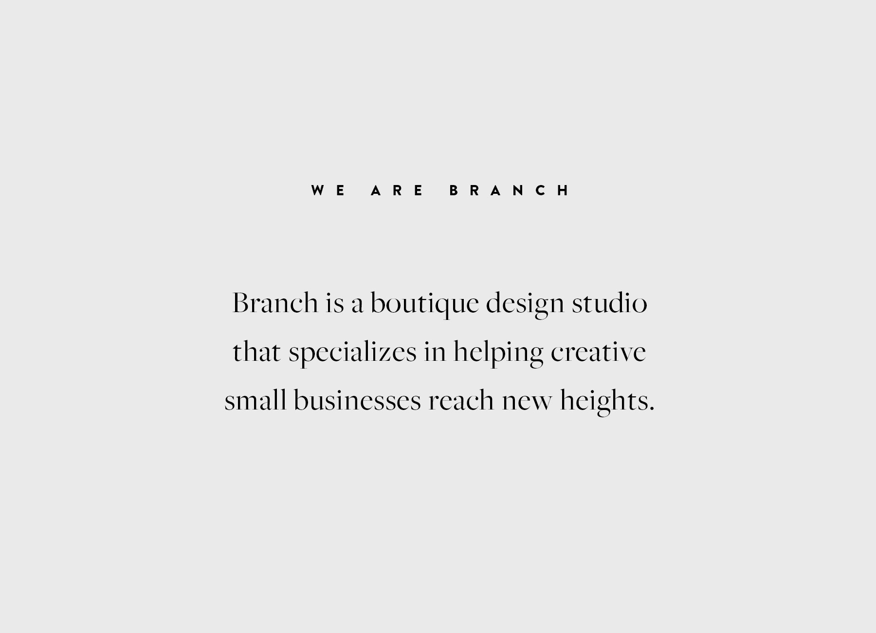 We Are Branch